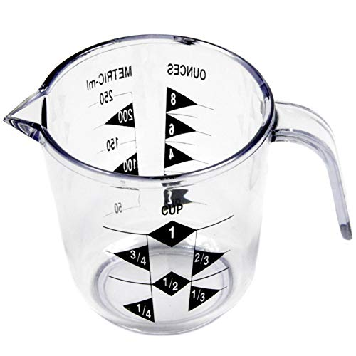 Chef Craft Select Plastic 1 Measuring Cup, 3.5 inch, Clear