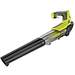 commercial Ryobi ONE + 18 Volt Lithium Ion Cordless Leaf Blower – Tool-Free Tools – (Large Pack) ryobi blower vac
