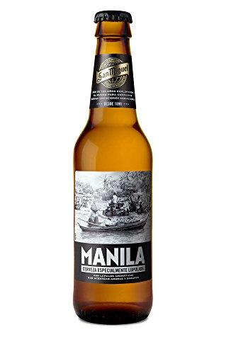 San Miguel Manila Cerveza Dorada Indian Pale Lager, 5.8% Volumen de Alcohol - Pack de 24 x 33 cl