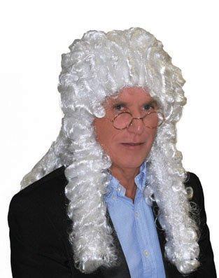 Karabu Perruque blanche frisée magistrat juge-avocat