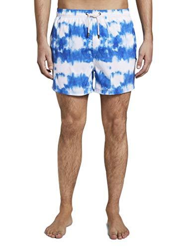 TOM TAILOR Herren Nightwear Badeshorts in Batik-Musterung Batik,L,P006,6000