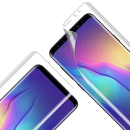 Protector Pantalla Soft TPU Compatible con Samsung Galaxy S9 Plus, Cobertura Máxima, Alta Definición y Sensibilidad, Sin Burbujas, Compatible con Funda, Protector de Pantalla para S9 Plus, 2 Piezas