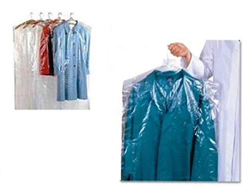 HOME & LAUNDRY Buste Copri Vestiti Cappotti Piumini Lunghi 60X120 Cm. per LAVANDERIE,TINTORIE,STIRERIE 100 Pezzi