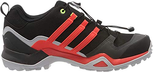 adidas Terrex Swift R2 GTX, Trail Running Shoe Hombre-Zapatillas de Deporte, Core Black/Solar Red/Signal Green, 42 EU