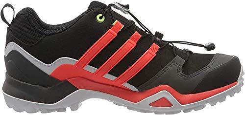 adidas Mens Terrex Swift R2 GTX Walking Shoe, Core Black/Solar Red/Signal Green, 44 EU
