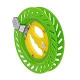 perfeclan Color Kite Reel Line Winder Wheel Grip Carrete De Pesca Multifunción para Exteriores - Verde Amarillo