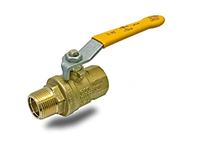 """RUB S92E42Q S92 3/4"""" MxF Lever Handle Ball Valve Water Steam Gas Industrial Use Hot Forged Brass Full Port 25, 000 Cycle100% Made In Italy, 0.75"""" by RUB Valves"""