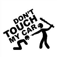 ステッカー剥がし 12センチメートル* 15センチメートルDO NOT MY CARストライクカーステッカービニールクリエイティブ ステッカー剥がし (Color Name : Black)