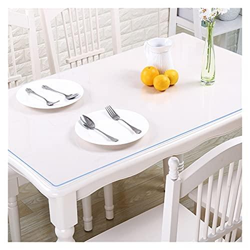 Mantel Claro, 1,5 Mm / 2 Mm / 3 Mm para Cocina Estera Mesa PVC Fácil Limpiar Resistente al Rayado Estera Mesa Vidrio Suave 3 Especificaciones AWSAD (Color : 2mm, Size : 60cmX60cm)