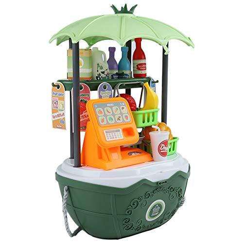 Erlsig Registratore Di Cassa Per Bambini, Negozi e Accessori, Giochi D'imitazione ,negozio di Alimentari Finta Di Giocare