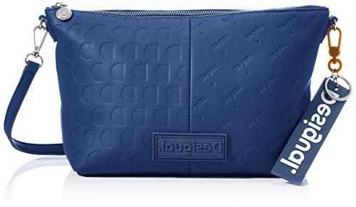 Desigual Accessories PU Across Body Bag, Bolsa para Cuerpo Mujer, azul, U