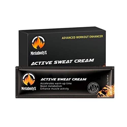 huichang Fettverbrennungscreme - Yoga, Selbsterhitzender magnetischer Knieorthese - Wärmetherapie - Active Sweat Cream Fettverbrennung Fat Loss Creme für Männer und Frauen Fitness 10pcs