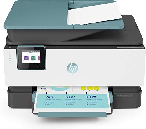 HP OfficeJet Pro 9015 3UK91B, Impresora Multifunción Tinta, Color, Imprime, Escanea, Copia, y Fax, Wi-Fi, Wi-Fi Direct, Ethernet, HP Smart App, Incluye 2 Meses del Servicio Instant Ink, Verde Oasis ⭐