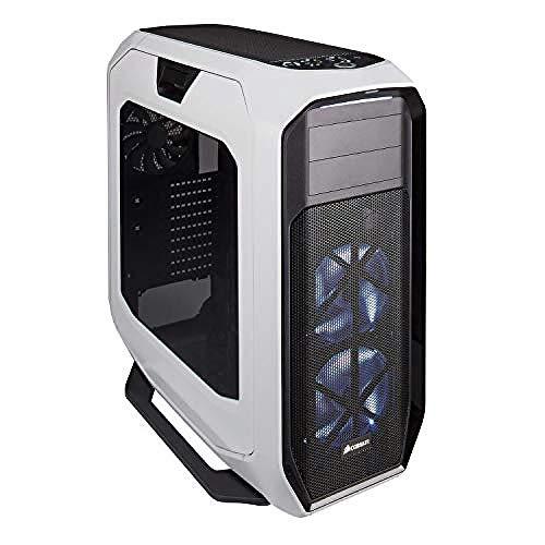 Corsair Graphite 780T Boîtier PC Gaming (Fenêtré Pleine Tour ATX avec trois AF140 Blanc LED Ventilateur) Blanc