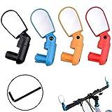 Seully 4 Piezas Espejo Retrovisor de Bicicleta Ajustable, Espejo Retrovisor de Ciclismo Mini, Rreflector de Espejo Retrovisor de Ciclismo 360 °,Accesorios para Bicicletas Universales (4 Colores)