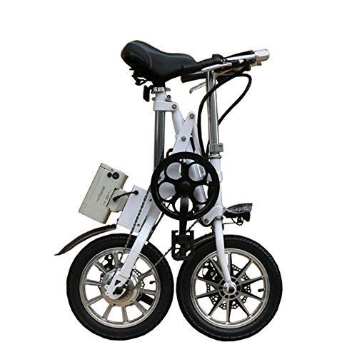 LILIJIA Bicicleta Eléctrica Plegable Montaña,Bicicleta Eléctrica Neumáticos 14 Pulgadas Batería Litio 36V/8.8Ah,Bicicleta...