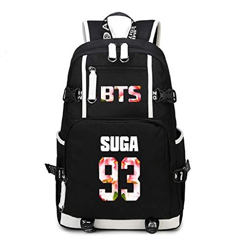 JUSTGOGO KPOP BTS Bangtan Boys Backpack Daypack Shoulder Bag School Bag Bookbag
