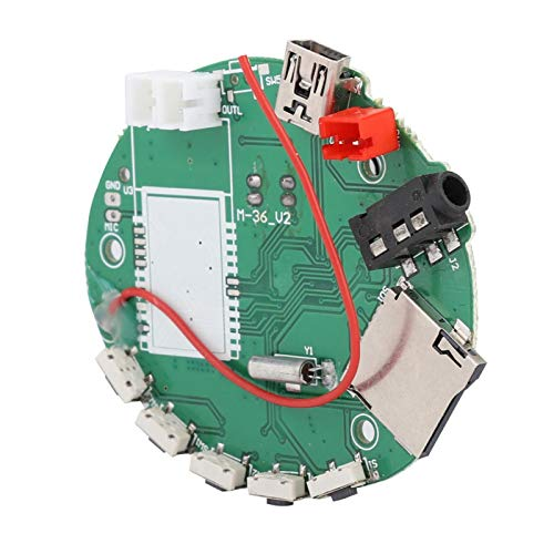 DAUERHAFT Leiterplatten-TF-Karte Radio-Decoder TFM36 3.5 Decoder Langlebige elektronische Schaltersteuerung, mit FM-Antenne, Unterstützung für MP3, Unterstützung für TF/FM / 3.5