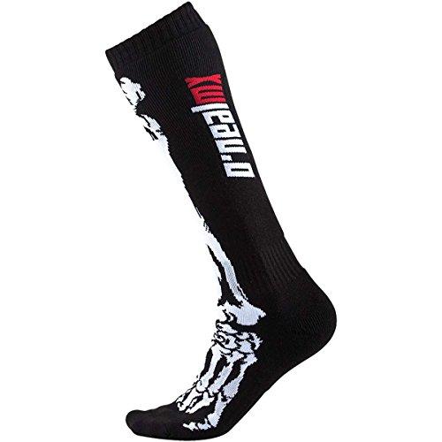 O\'NEAL Oneal Pro MX Socken, Farbe Schwarz/Weiss, Größe One Size