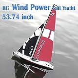 53.74インチRCセーリングボートスーパー巨大な動力を与えられていない趣味のリモートコントロールボート2.4G 4CH成人用14歳用帆モデル14+ by SOWOFA