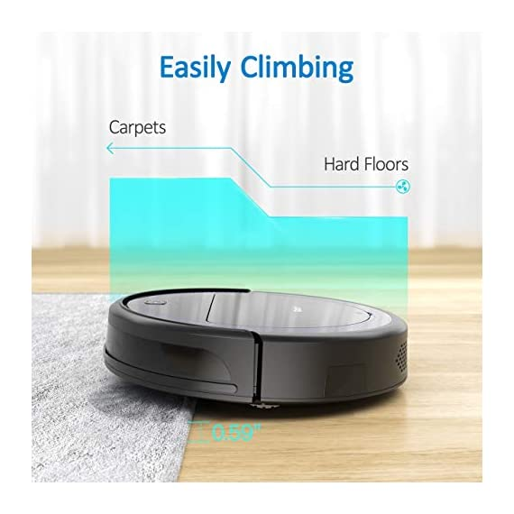 """Robit V7S PRO Robot Vacuum Cleaner, Upgraded 2000Pa Strong Suction, Ultra-Thin, Drop Sensor, Quiet, Self- Charging… 4 🐱 Enhanced 2000Pa Strong Suction: With the most advanced powerful motor, Robit V7S Pro Robot Vacuum has a 2000Pa intense suction, easily picking up dust and hair even from hard floor and carpet.3 Stage Cleaning System provided meets any various demands, you can choose whichever you like. 🐶 Slim Body & Super Quiet: Applying unique High quality Nidec brushless motor, this robot vacuum cleaner is endowed with mini noise while cleaning, so you can enjoy yourself with no disturbance. Only 3.1"""" height makes it easy to freely glide under the bed, the sofa or the table , and all the hidden dust can be swept away. 🐹 Schedule a Cleaning : Delivered by a Time Reservation, this robot vacuum pet can work perfectly as scheduled and multiple cleaning modes generates a customized cleaning routine."""