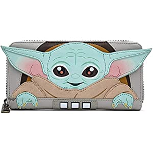 Loungefly Star Wars Baby Yoda in Crib The Mandalorian Wallet