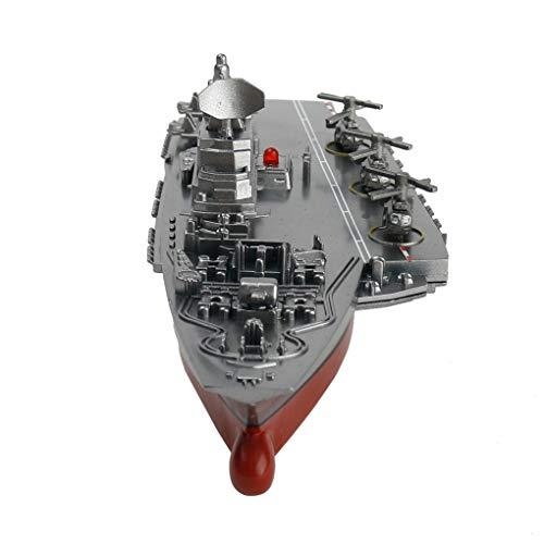 Yujum Acorazado del Buque de Guerra RC Control Remoto del Crucero de la lancha de Carreras Modelo Niños portaaviones Juega
