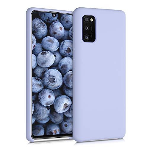 kwmobile Hülle kompatibel mit Samsung Galaxy A41 - Hülle Silikon gummiert - Handyhülle - Handy Hülle in Pastell Lavendel
