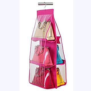 Okayji 6 Pocket Handbag Organizer,Pink