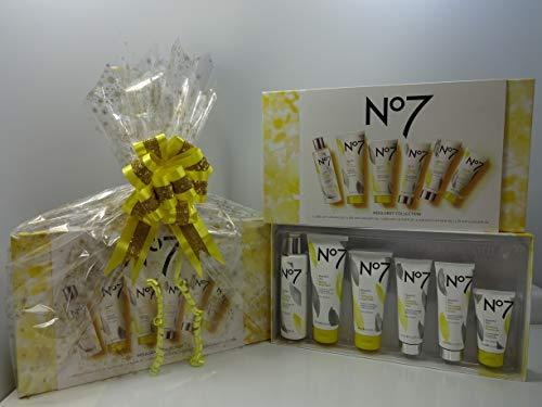 No7 2291 Coffret cadeau de beauté 14 pièces pour soins de la peau et maquillage Coffret cadeau Coffret cadeau – Panier cadeau emballé pour elle + fard à paupières No7 gratuit