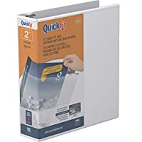 Stride- Inc. STW87030 Quick Fit Binder- D-Ring- 2in.- 11-.25in.x11-.75in.- White