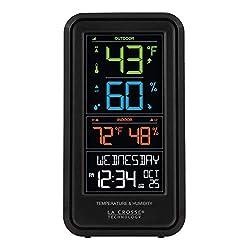 La Crosse Technology S82967-INT Wireless Digital Personal Weather Station, Black