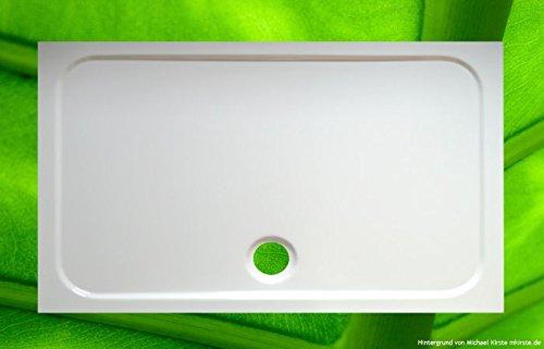 Plato de ducha de 120 x 70 cm + soporte para bañera + desagüe – Platos de ducha económicos – Plato de ducha 120 x 70 x 2,5 cm