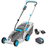 Swift 40V Brushless Cordless Lawn Mower Electric Lawnmower (1-3Inch) Mowing Heights 2 in 1 Collect or Mulch with Battery and Charger