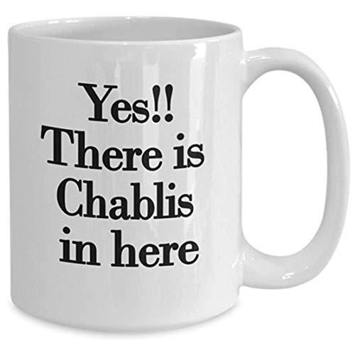 N\A Taza de los Amantes del Vino, Idea de Regalo de Chablis Novedad de Chablis para cumpleaños, Navidad, Aniversario, Taza de café de té de cerámica