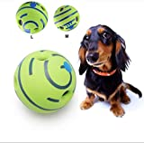 Wobble Wag <span class='highlight'>Giggle</span> <span class='highlight'>Ball</span> Interactive Squeaker <span class='highlight'>Dog</span>gies <span class='highlight'>Toy</span> with Funny Sound Rubber <span class='highlight'>Ball</span> Cat and <span class='highlight'>Dog</span> <span class='highlight'>Toy</span> Chew <span class='highlight'>Toy</span>,Easy to Maintain, Use Indoors or Outdoor,Can Keep Your Pet Excited,Happy and Active,1PCS