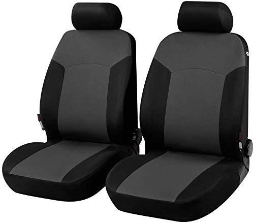 Coprisedili Anteriori Yaris Versione (2006-2011 (P9)) compatibili con sedili con airbag, con Fori per i poggiatesta e bracciolo Laterale