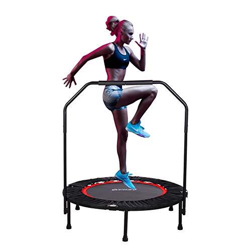 "Newan Exercise Trampoline for Adult - 40"" Fitness Rebounder Trampoline Handle Bar for Indoor Garden Workout Cardio Training - Foldable Design for Storage."
