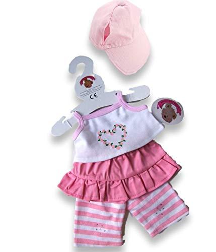 Build Your Clothes Osos Armario 15 Pulgadas Oso Build Fit Oso Peluches Chaqueta / Chaleco / Plancha Teddy Outfit (Rosa)