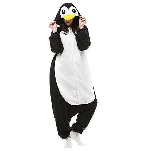 Silver_river Pinguin Onesie Jumpsuits Halloween Kostüm Pyjama Oberall Hausanzug Kigurum Schlafanzug