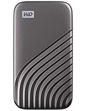 Deal on WD 4TB My Passport SSD External Portable Solid State Drive, Grey, Up to 1,050 MB/s, USB 3.2 Gen-2 and USB-C Compatible (USB-A for older systems) – WDBAGF0040BGY-WESN