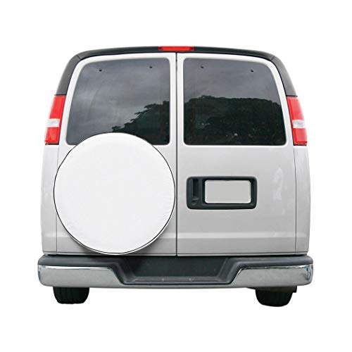 Classic Accessories Over Drive RV Custom Fit Spare Tire Cover, Wheels 28' - 29' Diameter, White
