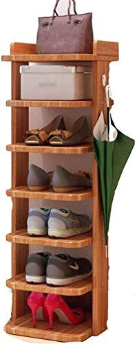 Ranuras de zapato ajustables Organizador Bastidore Alcance de zapatos estrecho Almacenamiento de madera Capa de nivel de madera Zapatillas de almacenamiento Gabinete de almacenamiento Pasillos Dormito