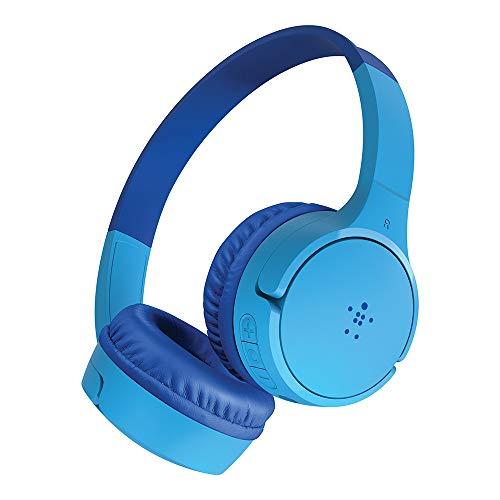 Belkin SoundForm - Auriculares inalámbricos para niños (con micrófono Integrado, niñas y niños para Aprendizaje en línea, Escuela, Viajes, Compatible con iPhones, iPads, Galaxy y más)