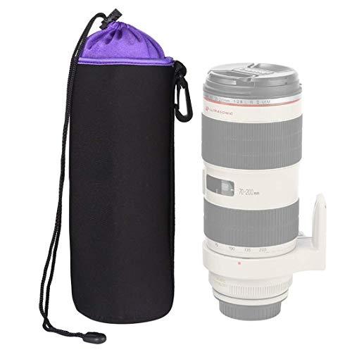 SLR Lens Camera Bag Micro Lens obiettivo singolo sacchetto interno Bile Bag Custodia protettiva impermeabile più velluto che ispessisce, diametro: 10cm, altezza: 25cm (arancione) (Colore: Viola) 8bayf