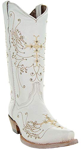 Soto Boots Women's Wedding Cowgirl Boots M50040 (White,11)