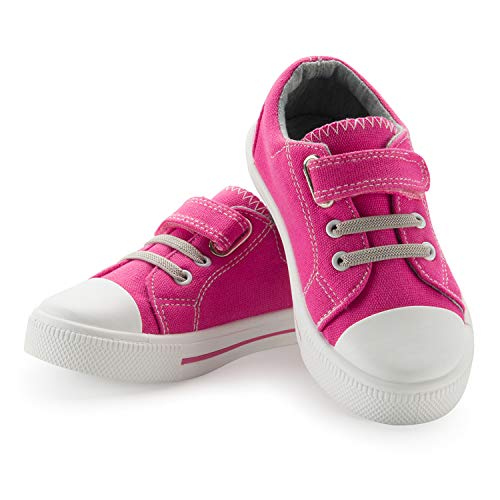 Baby Canvas Shoes K KomForme Kids Sneakers for Boys and Girls,with Hook and Loops