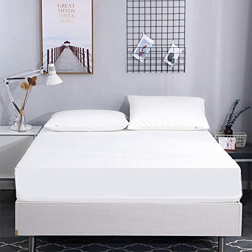 HPPSLT Protector de colchón, algodón, poliéster, Sábana Impermeable, Transpirable y antiácaros-200 * 200cm.