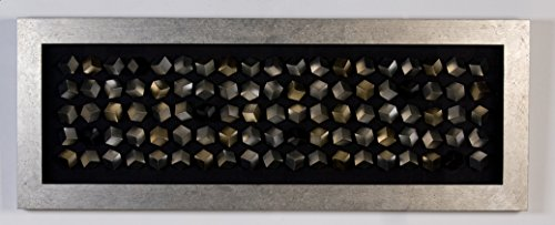 Casablanca Bild Cubes Holz/Glas,silberner RahL.160cm