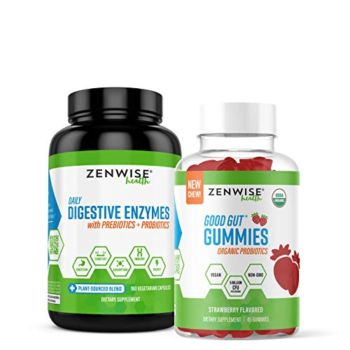 Zenwise Health- Enzymes, Probiotics and Gummies, Oh My! Bundle – Gas, Bloating, Constipation & Diarrhea Relief – Probiotic Chewables with DE111 Probiotic for Clinically Studied Immune Support